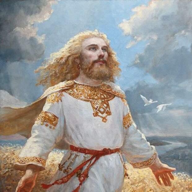 Древний славянин (фантазия художника)