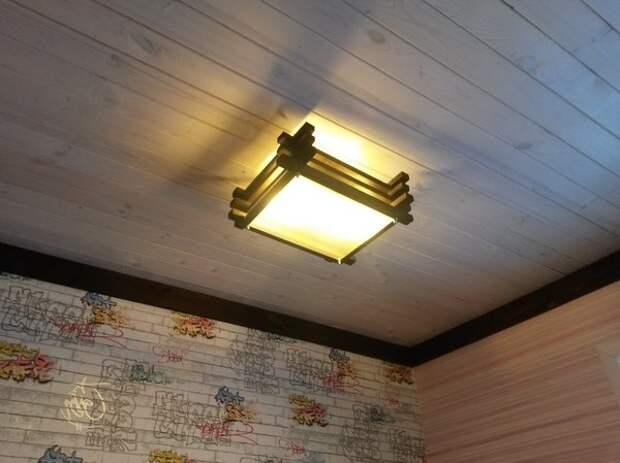 Потолочные светильники своими руками