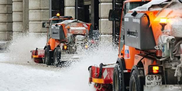 В Отрадном ликвидируют последствия ночного снегопада