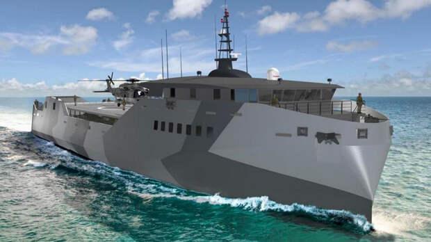 За проект нового десантного корабля для США соревнуются пять фирм