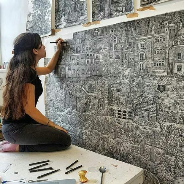 Фреска маркером