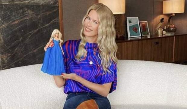 Барби от кутюр: в честь юбилея Клаудии Шиффер создали игрушечную копию модели