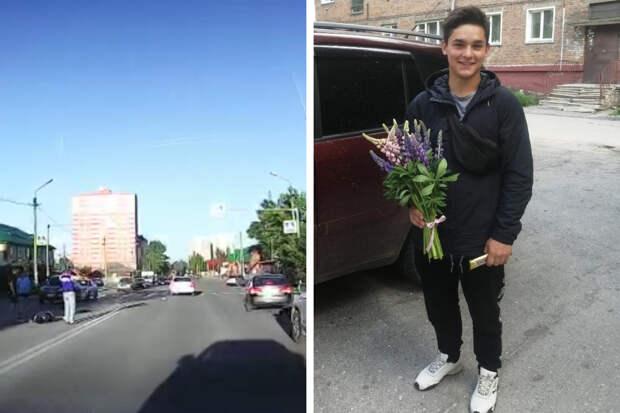 В Новосибирске студента сбил автомобиль, а затем его отбросило во второй. Он успел оттолкнуть подругу