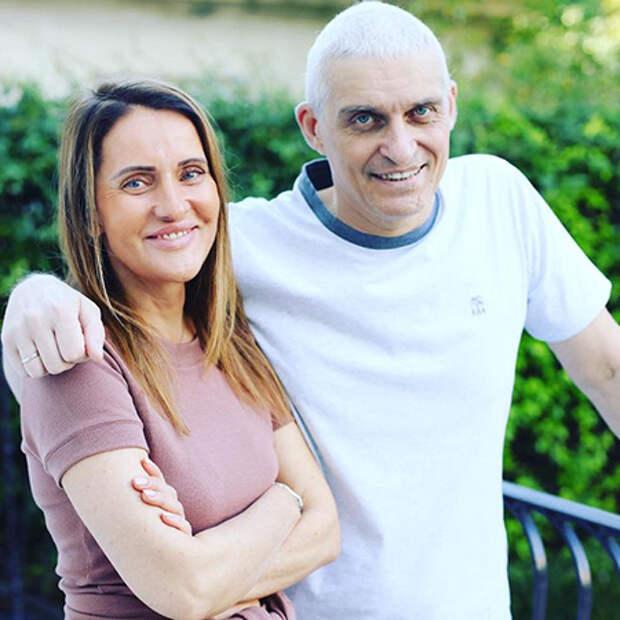 Олег Тиньков с женой Риной Восман