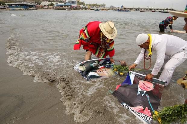 Служители культа провели обряд смягчения сердец президентов Фото: REUTERS