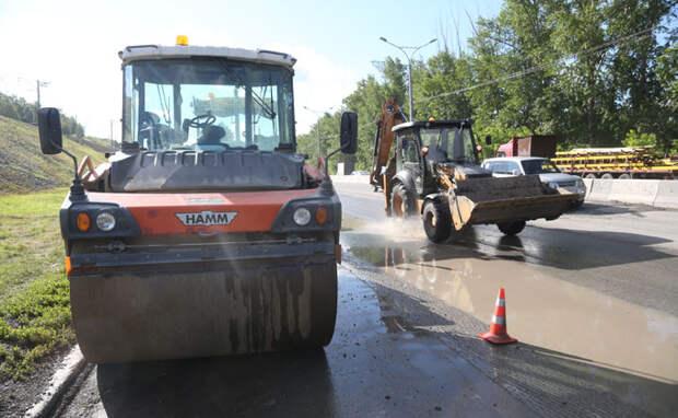 Мэр назвал долю выполненного плана ремонта дорог в Новосибирске