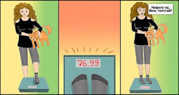 Когда пытаешься найти оправдания своему весу