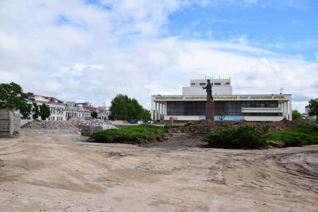 Площадь Ленина в Симферополе благоустроят до 1 сентября
