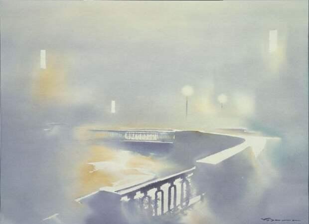 художник Константин Кузема акварель картины - 12