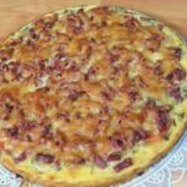 Пицца из кабачкового теста в духовке