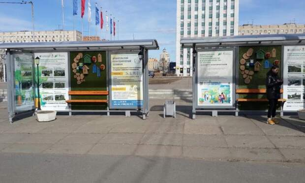 ВАрхангельске установили необычную автобусную остановку
