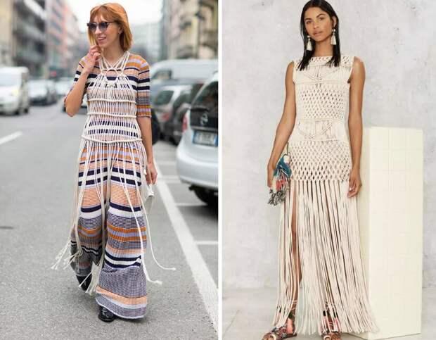 С чем и как носить бахрому и макраме этим летом, чтобы выглядеть стильно