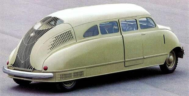 Даже на виде сзади Scarab претендует на смелую оригинальность форм и облицовки авто, автомобили, атодизайн, дизайн, интересный автомобили, олдтаймер, ретро авто, фургон