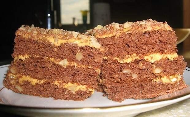Торт Золотой ключик. Простой, но очень нежный и вкусный десерт 4
