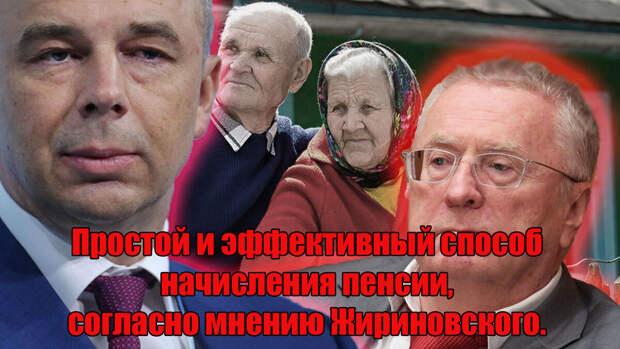 Простой и эффективный способ начисления пенсии, согласно мнению Жириновского.