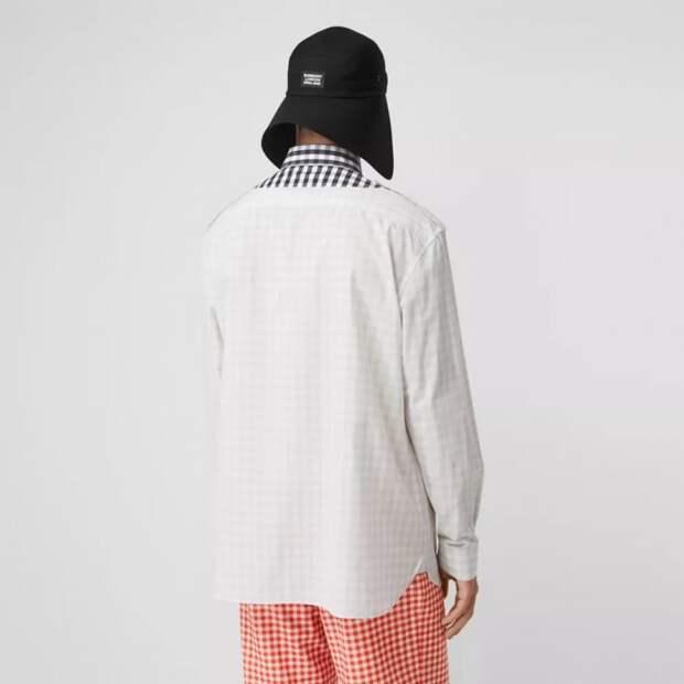 модная мужская рубашка из кусков пэчворк