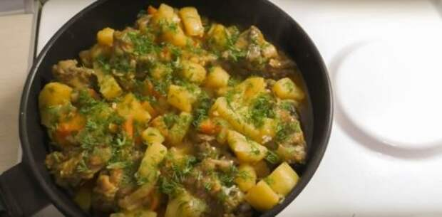 Очень быстрый ужин — курочка с картошкой