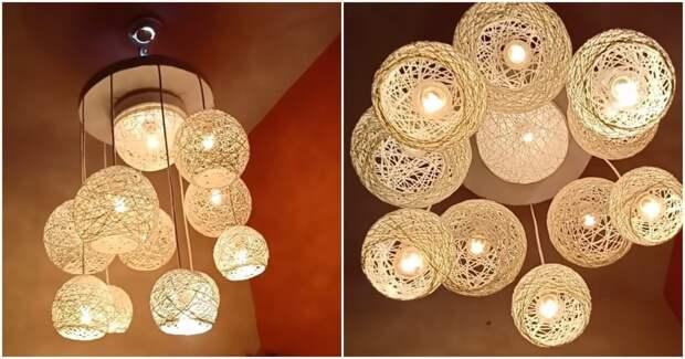 Неожиданно, но очень красиво: оригинальная лампа, которая станет украшением комнаты