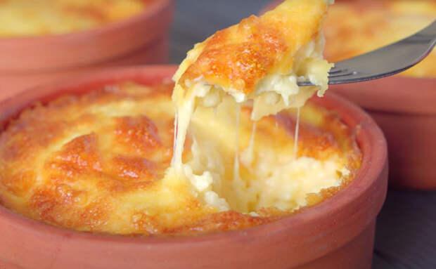 Сырный завтрак-суфле в горшочках. Получилось вкуснее запеканки и сырников