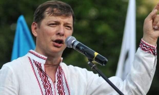 Клоун на гастролях: Олег Ляшко взгромоздился на танк и собрался на Москву
