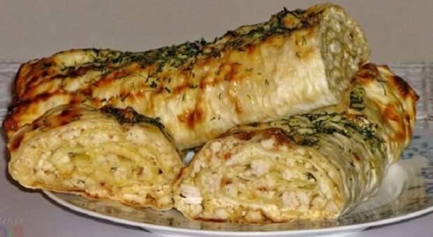 Лаваш с сыром в духовке и куриным филе. Идеальный завтрак для всей семьи 2