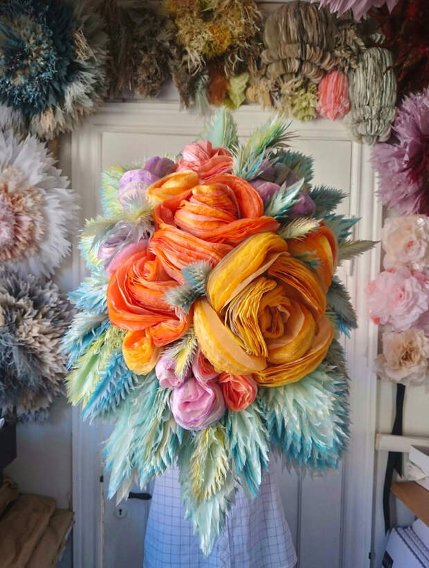 Невероятные бумажные цветы Марианны Эриксен Скотт-Хансен