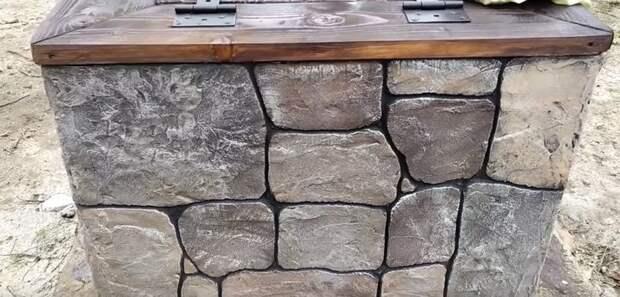 Декоративный камень из простого плиточного клея