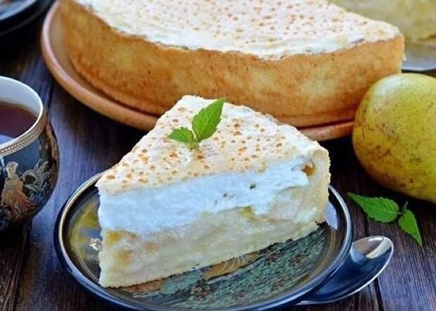 Вкуснейший сливочно-грушевый пирог
