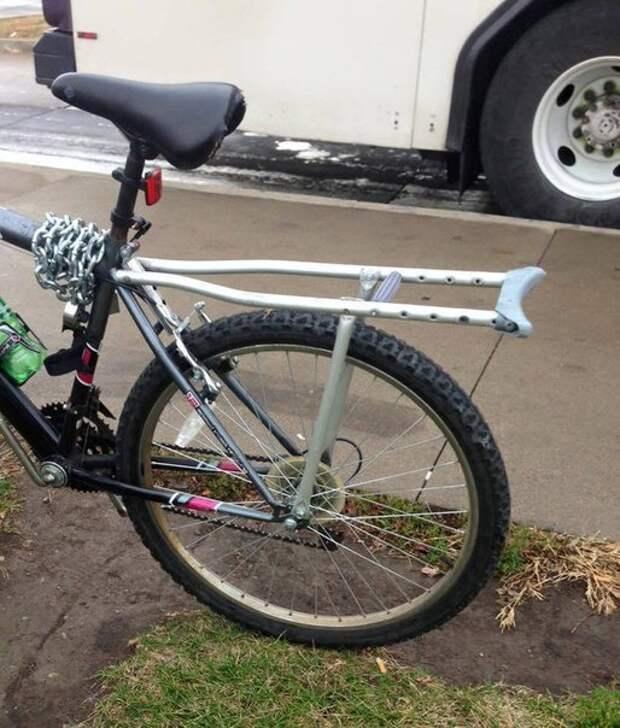 Велосипед с костылем