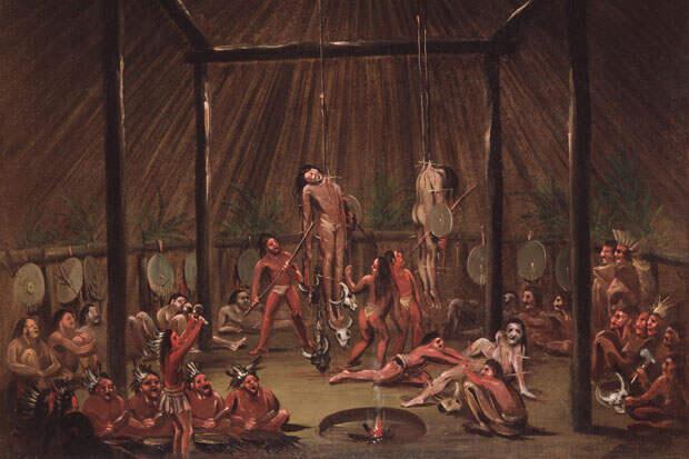 Племя манданов. Подвешивание на крюках