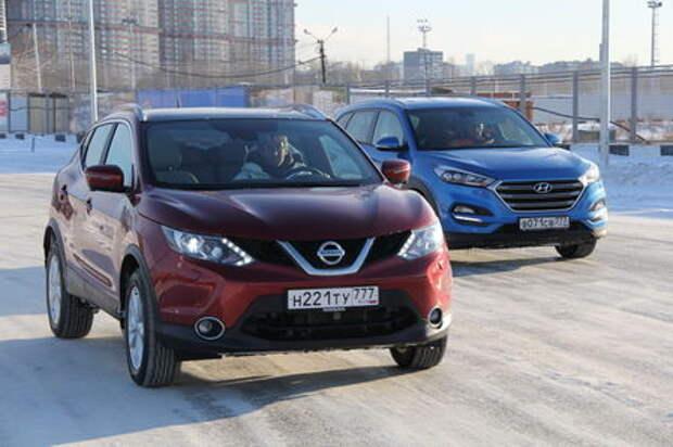 Hyundai Tucson и Nissan Qashqai: тест на снежной волне
