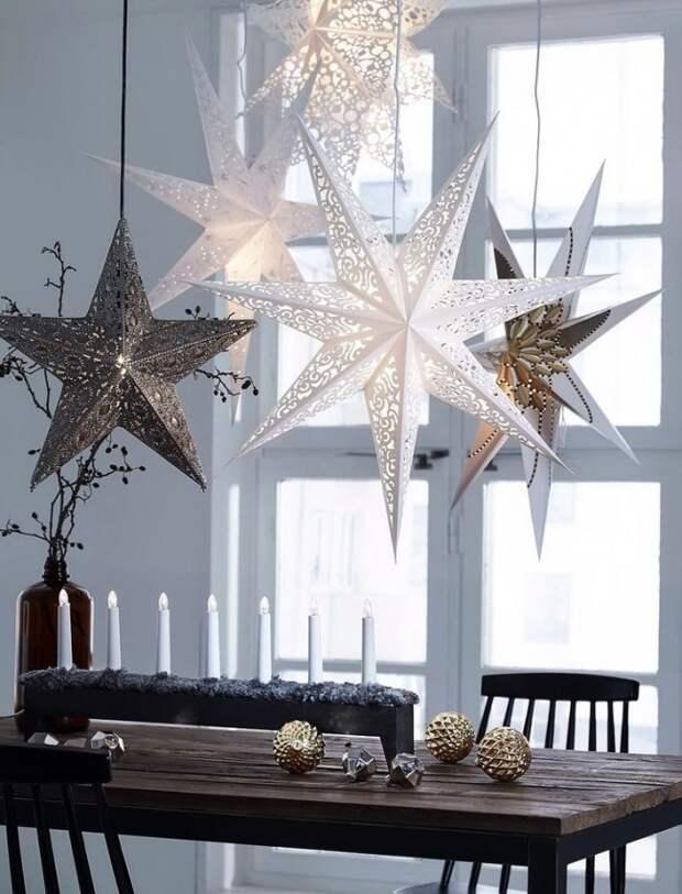 Звезды, свисающие с потолка - ярко, оригинально и просто роскошно !