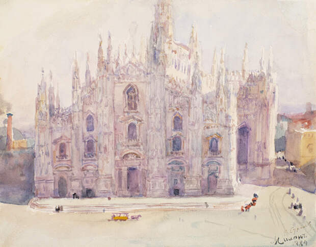 Европа на картинах русских художников