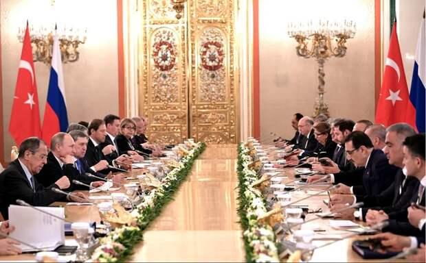 В Москве состоялись переговоры президентов России и Турции