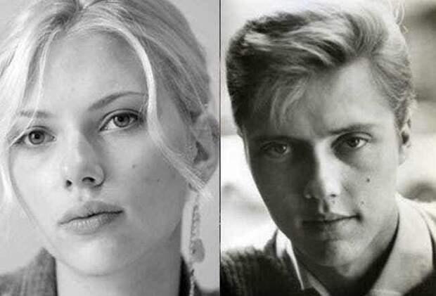6 знаменитостей-женщин, которые очень похожи на известных мужчин