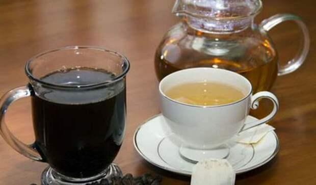 Зелёный чай и кофе