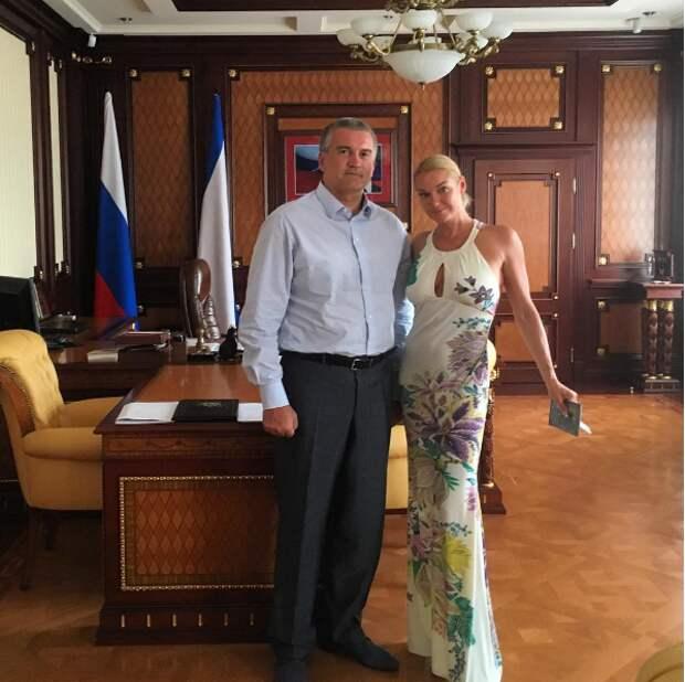 Главу Крыма «застукали» с Волочковой (фотофакт)