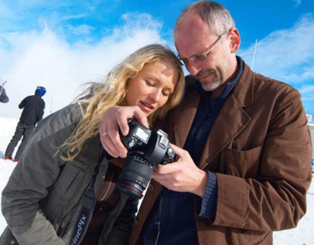 С третьей женой Катей Гордон