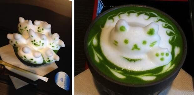 Чай латте, который жалко пить latte, искусство, чай
