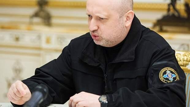 Турчинов призвал покончить с Донбассом, объявив войну России