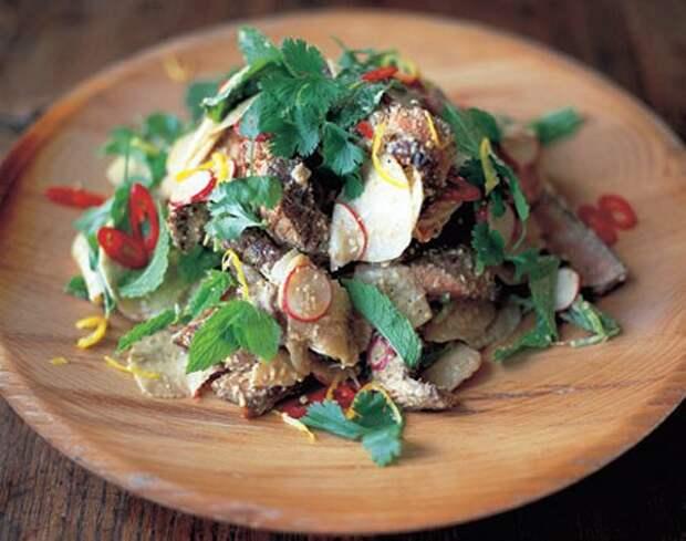 Салат с мясом — говядина и редис — Рецепты Джейми Оливера