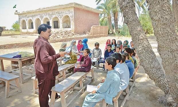 Похожие условия в одной из провинциальных школ Пакистана прикол, школа, юмор