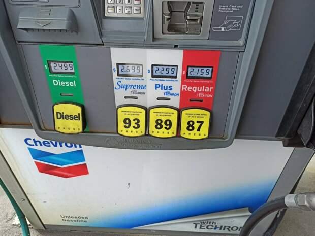 Почему бензин в США имеет октановое число не выше 93? Узнал у местного жителя