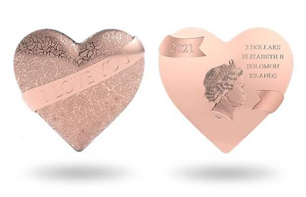 Три самых главных слова в сердце: представляем серебряную монету-подарок «Я тебя люблю»