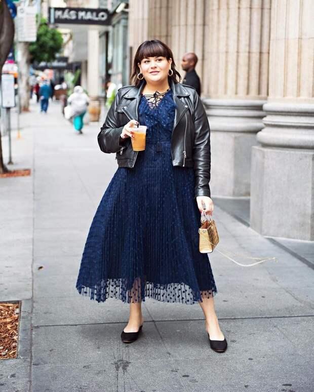модный осенние образы для полных женщин фото 14
