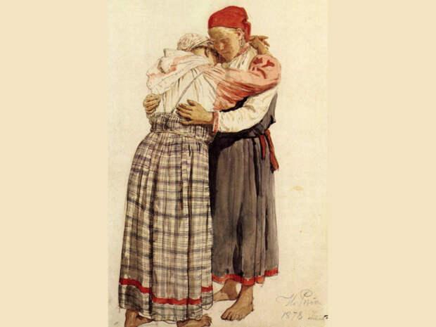 Объятия между родственниками и близкими друзьями были очень распространены. /Фото: dyn.ig.rambler.ru