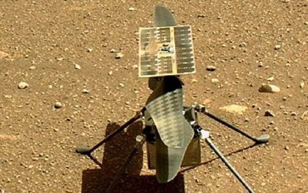 Вертолет Ingenuity впервые переместился на новое место на Марсе