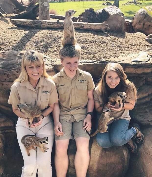 Мать семейства - Терри Ирвин, Роберт и Бинди Бинди Ирвин, дикие животные, животные, зоопарк, истории, натуралист, охотник на крокодилов, стив ирвин
