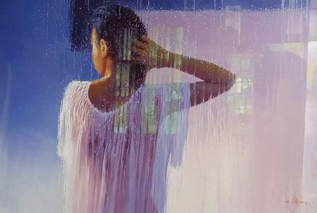 Мьянмский художник. Aung Thiha