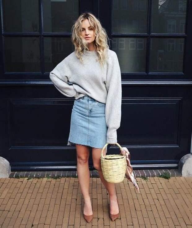 С чем сочетать джинсовую юбку в этом сезоне